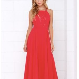 Lulus Red Maxi Dress